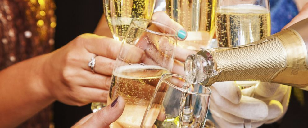 PHOTO: People participate in a New Years toast in this stock image.