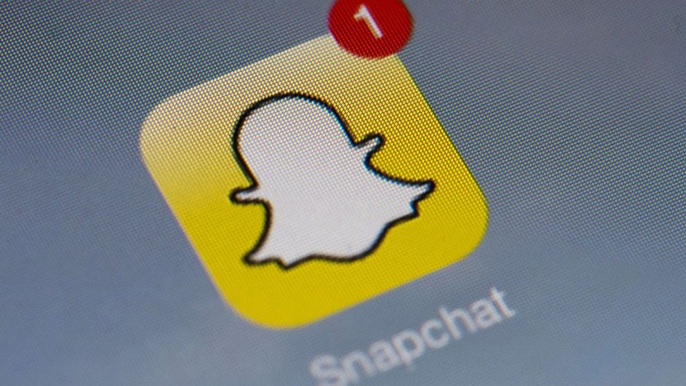 PHOTO: Snapchats logo is displa