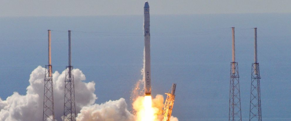 photo space xs falcon 9 rocket is seen as it lifts off from space launch