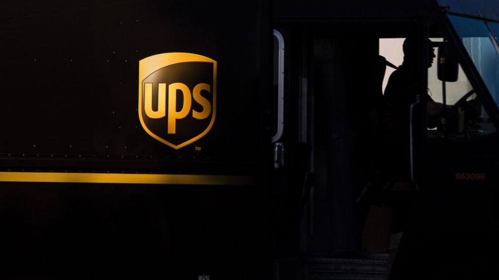 PHOTO: The silhouette of a driver is seen in a UPS delivery truck at the distribution center in Sacramento, Calif., Feb. 14, 2013