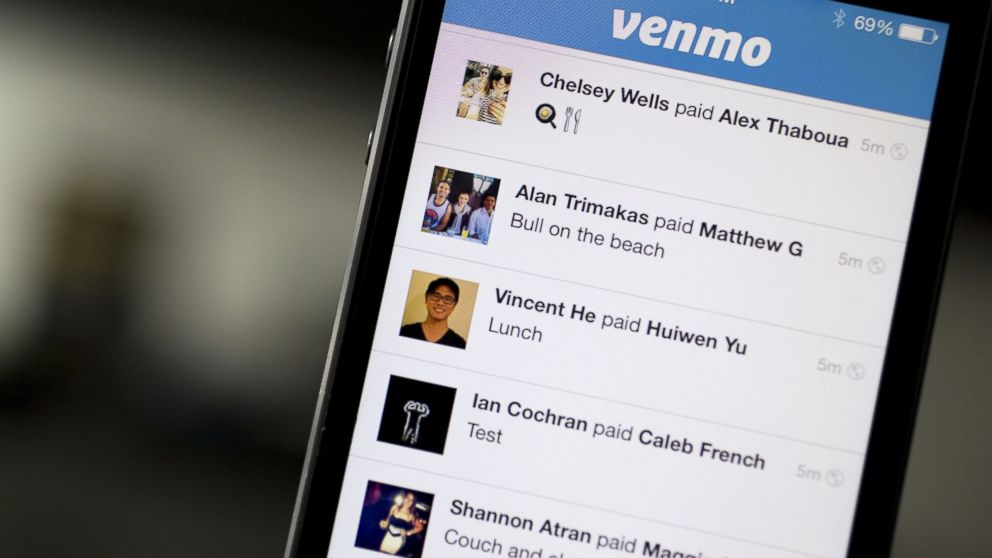PHOTO: Venmos app is displayed in Washington, D.C. on Aug. 22, 2014.