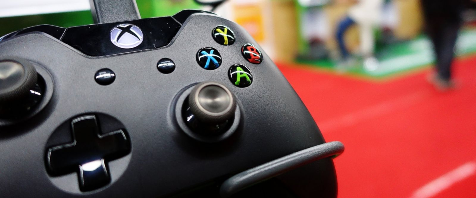 PHOTO: A control of a Microsofts Xbox One game console is pictured in a shop in Shanghai, Sept. 29, 2014.