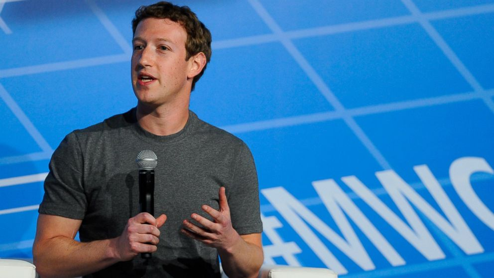 PHOTO: Mark Zuckerberg is pictured on Feb. 24, 2014 in Barcelona, Spain.
