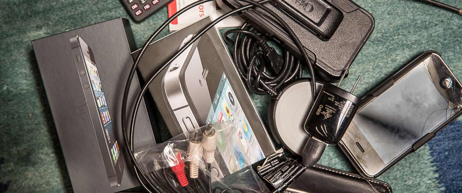 PHOTO: A pile of technological waste.