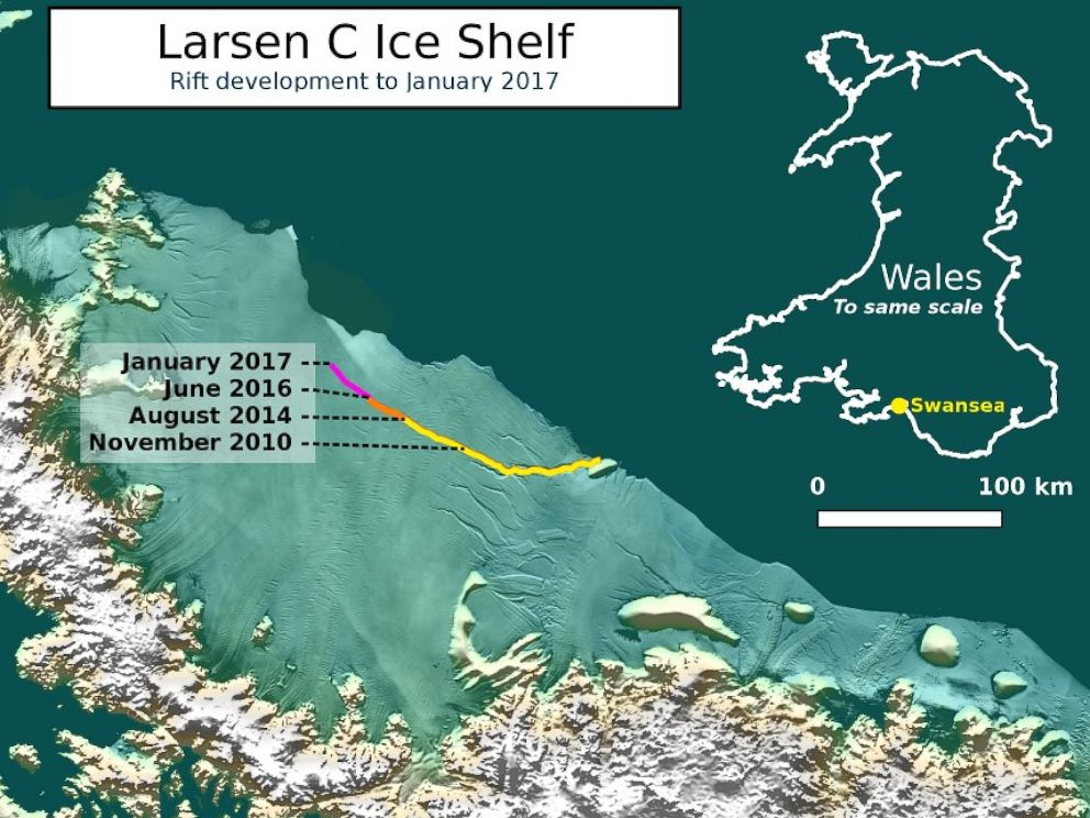 Iceberg the Size of Delaware Could Soon Break Off Antarctic Ice ...