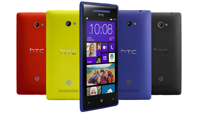 PHOTO: HTCs 8X and 8S run Microsofts Windows Phone 8, have 8-megapixel cameras, and Super LCD 2 HD screens.