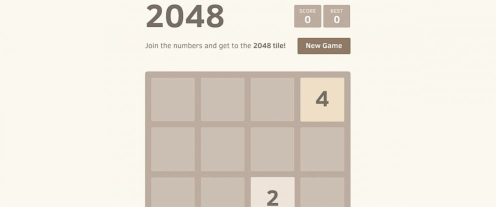 PHOTO: You dont need to be good at math to enjoy the game 2048.