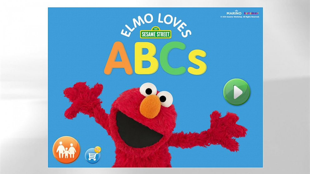 PHOTO: Sesame Workshops Elmo Loves ABCs and Elmo Loves 123s apps incorporate interactivity games and exercises, video, and letter and number identification to help children build fundamental literacy skills.