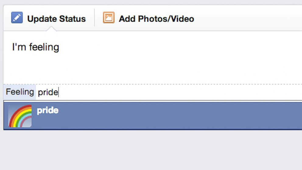 PHOTO: Facebook has added a pride emoticon to celebrate gay pride month and the DOMA news.