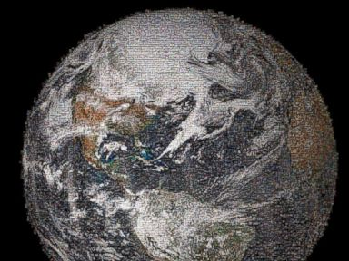 What If Selfies Made Up the Earth?