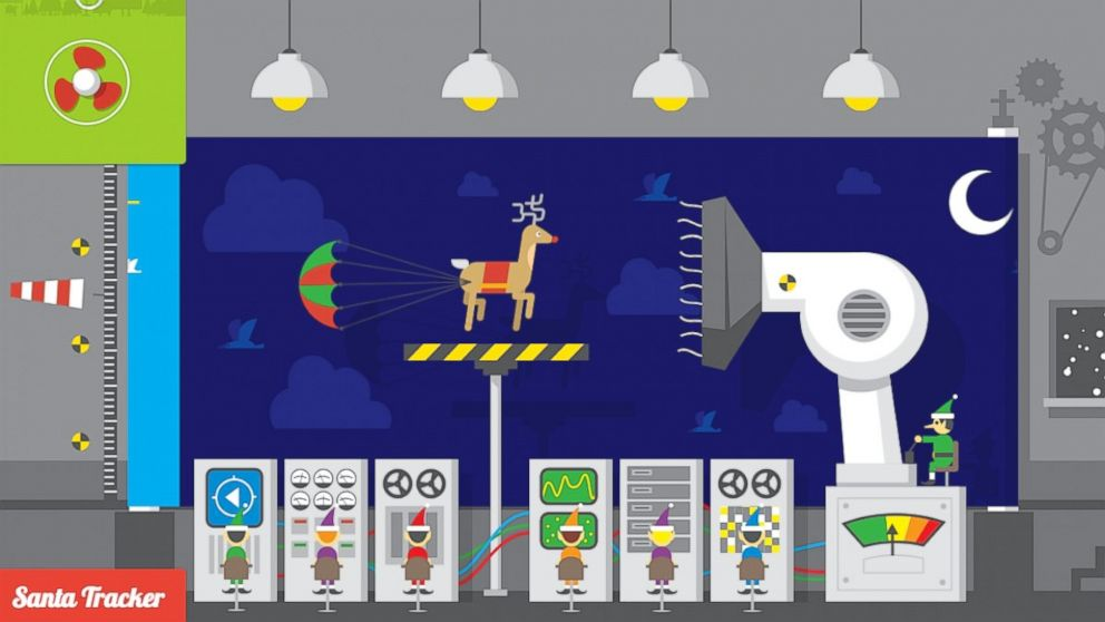 PHOTO: Googles new Santa Tracker.