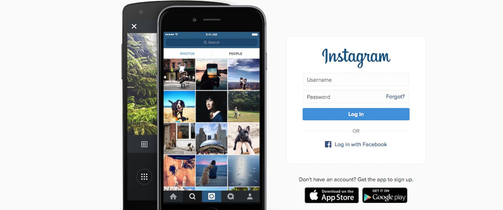 PHOTO: The Instagram homepage. Instagram announced today changes to how images will appear in its viewers account.