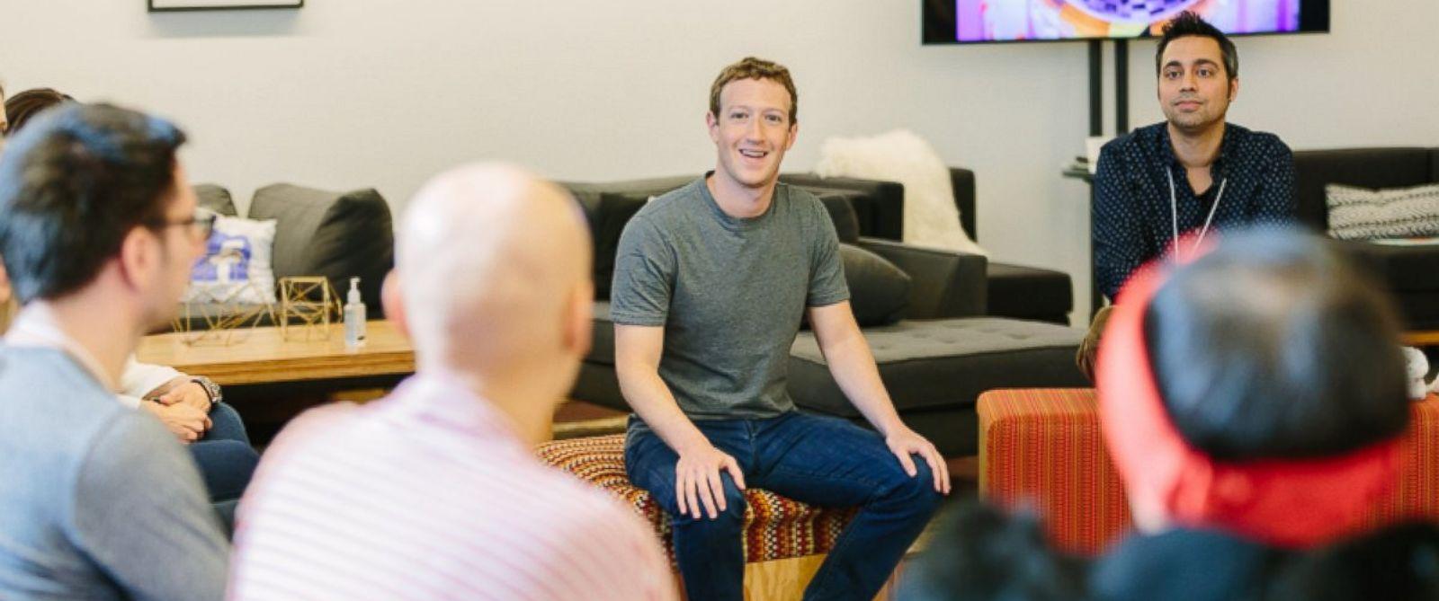 PHOTO: Mark Zuckerberg celebrates Facebooks 12th anniversary at the companys Menlo Park, California office.