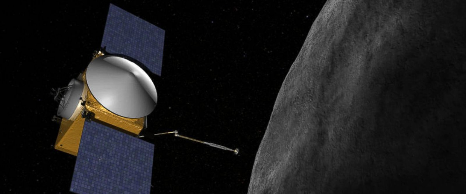"PHOTO: OSIRIS-REx will be the first U.S. mission to carry samples from an asteroid back to Earth. In 2019, OSIRIS-Rex will approach asteroid 1999 RQ36, or ""Bennu."""