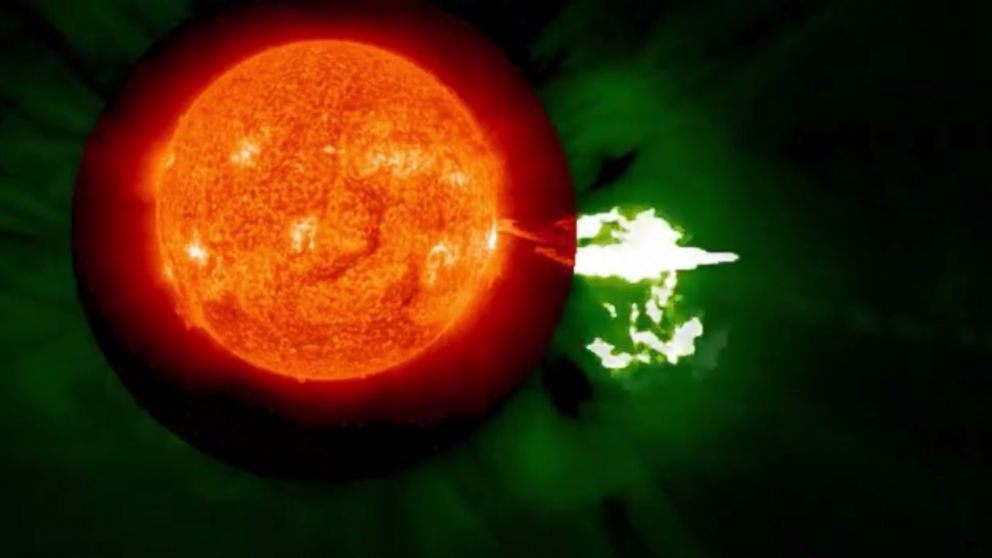 PHOTO: A solar eruption is seen in video captured by NASAs Solar Terrestrial Relations Observatory, Aug. 24, 2014.