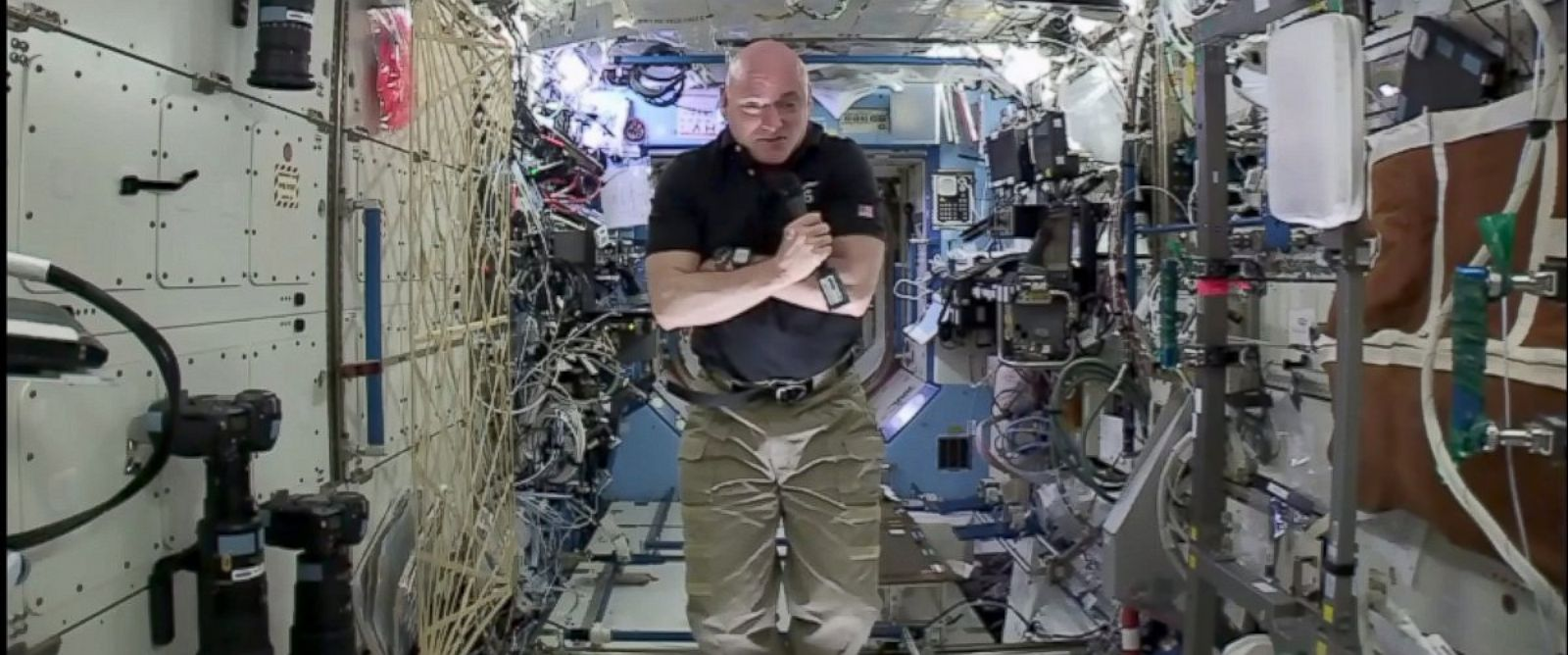 PHOTO: Scott Kelly conducted the final press conference from space for his one year mission.