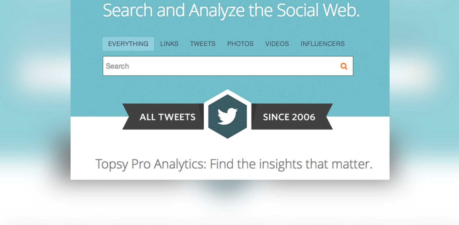 PHOTO: Topsy, a Twitter search tool, was acquired by Apple.