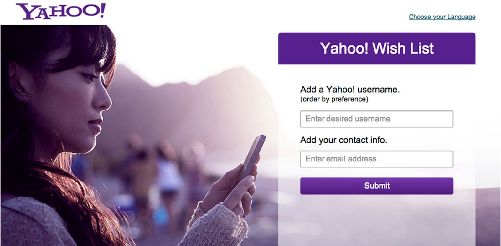 PHOTO: Yahoo Wishlist