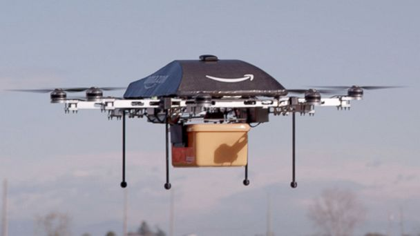 PHOTO: With Prime Air, Amazon is hoping to deliver packages with drones.