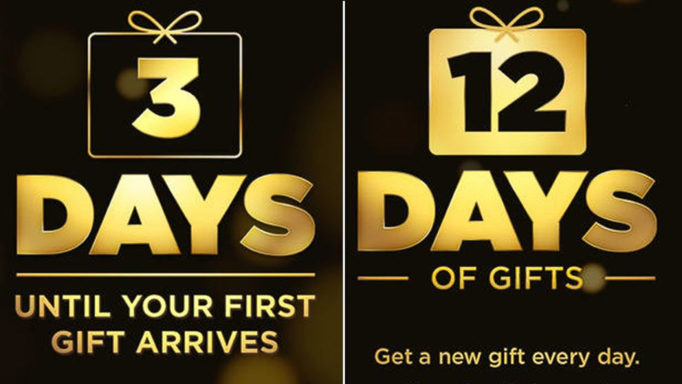 PHOTO: For 12 days Apple will release free apps, songs, movies and more through its 12 Days of Gifts app.