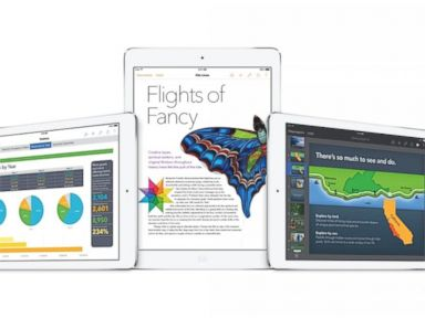 PHOTO: Apples iWork is now included for free with any new iPad.