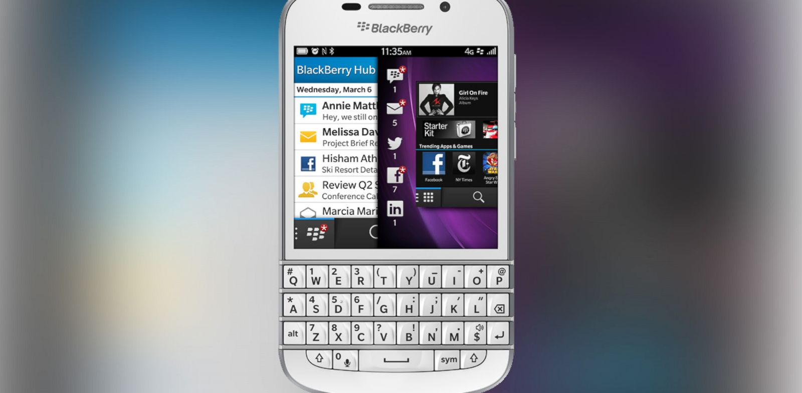 PHOTO: A recent ad for Blackberry highlighted the Q10s keyboard and little else.