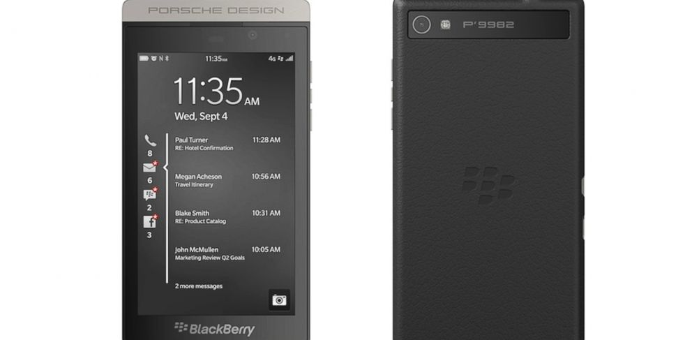 PHOTO: BlackBerry and Porsche Design have teamed up to make a $2,350 phone.