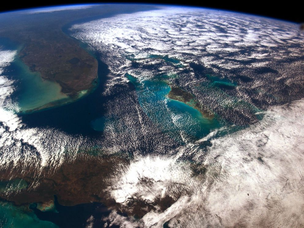 PHOTO: Chris Hadfield took this photo of Cuba and Florida from the International Space Station.