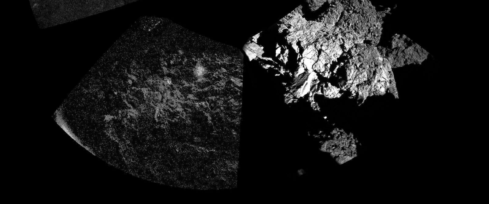 PHOTO: Rosetta's lander Philae has returned the first panoramic image from the surface of a comet, Nov. 13, 2014.