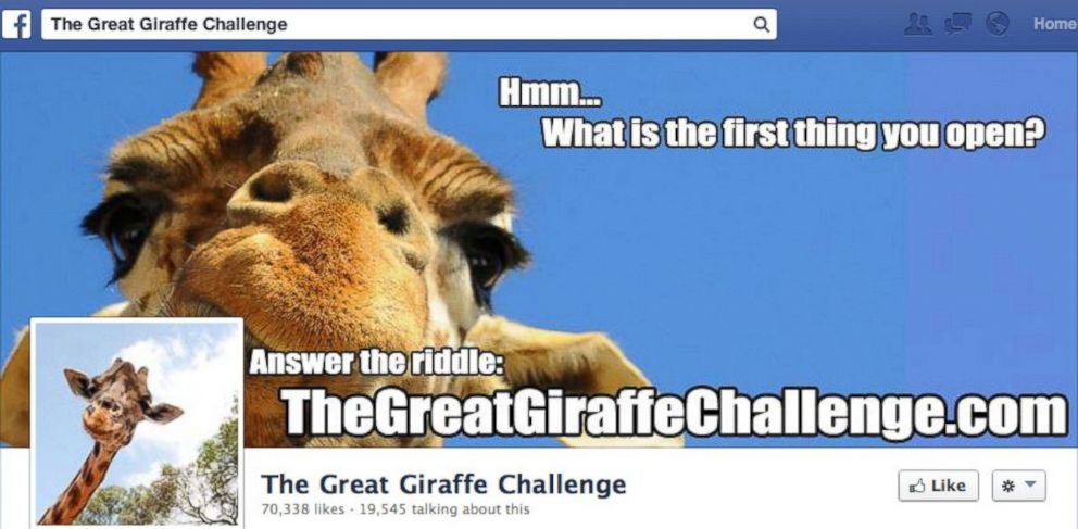 PHOTO: Many Facebook users have been changing their profile picture after losing to The Great Giraffe Challenge.