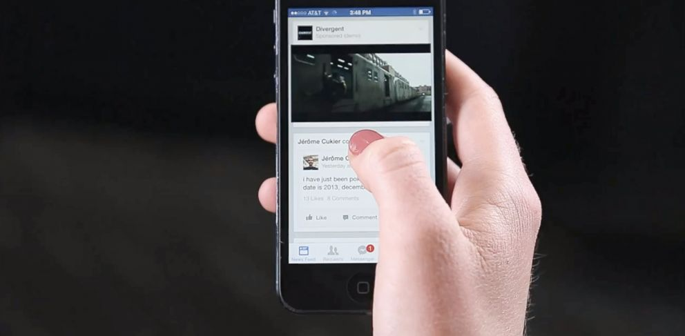 PHOTO: Facebook will begin selling video advertising in Newsfeeds.