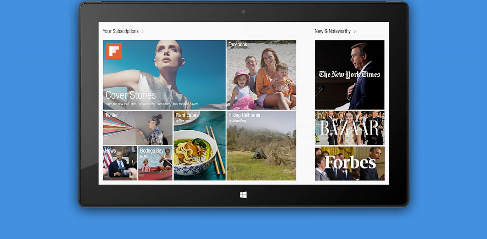 PHOTO: Flipboards app for WIndows 8.