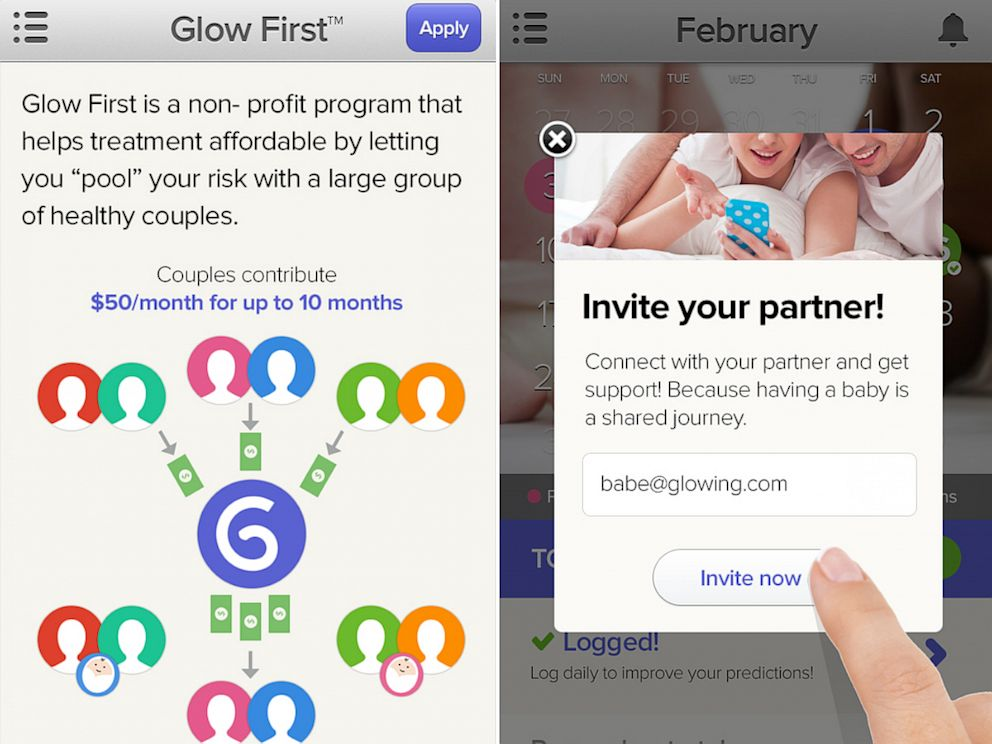 PHOTO: The Glow app for the iPhone aims to help women get pregnant.