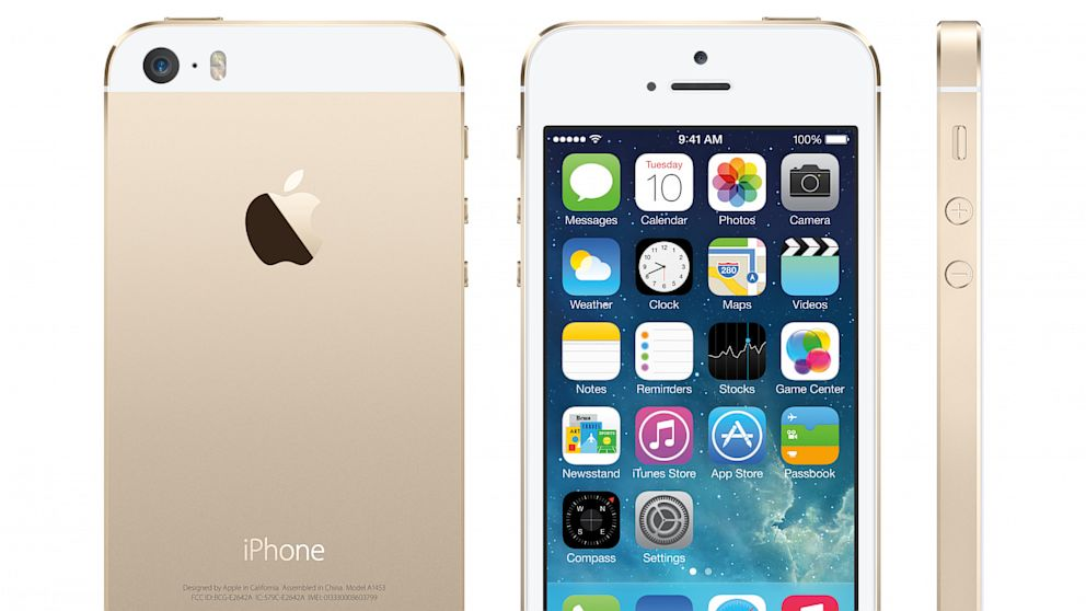 PHOTO: The gold colored iPhone 5S