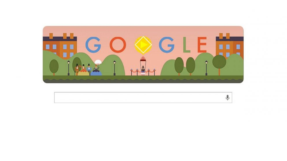 "PHOTO: Googles ""doodle"" for the 216th anniversary of the first para"