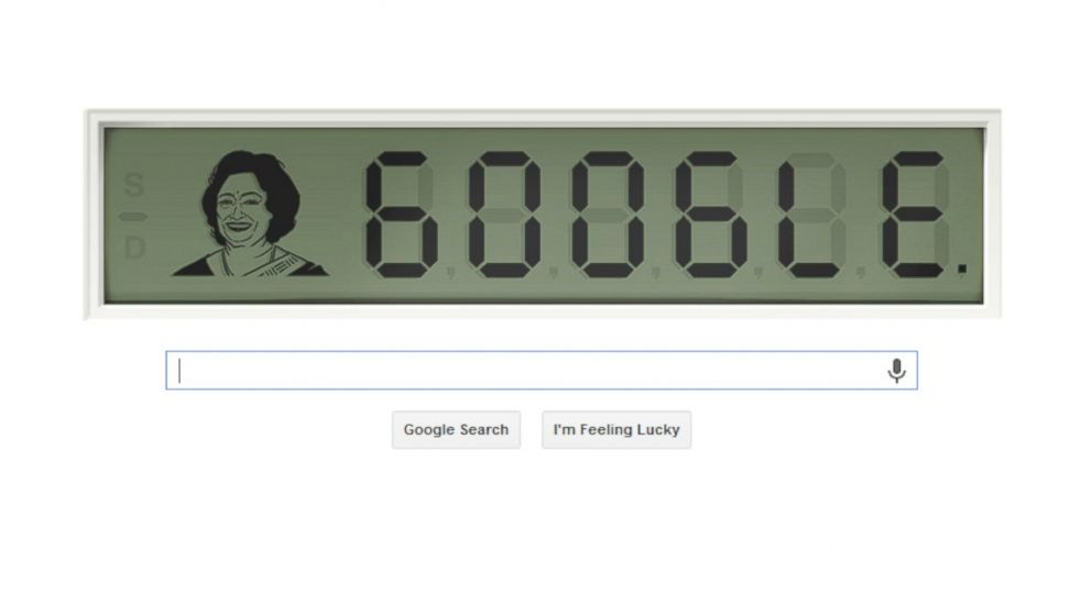 "PHOTO: Todays Google Doodle pays homage to Shakuntala Devi, also known as ""the human computer."""