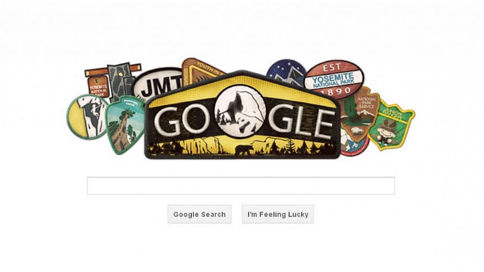 PHOTO: On Oct. 1, 2013 Google celebrated the birthday of Yosemite National Park.