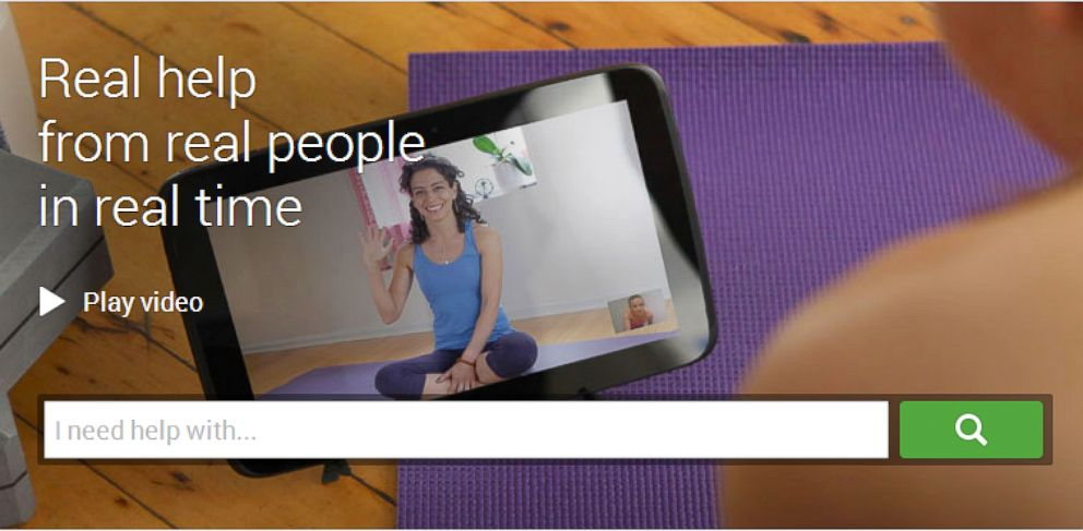 PHOTO: Helpouts, a new video chat service from Google, connects people who have questions to people who have answers.