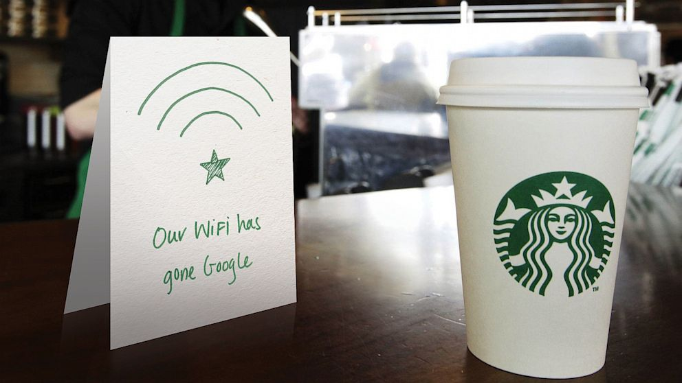 PHOTO: Starbucks teams up with Google to bring 10 times faster network and Wi-Fi speeds to company-operated stores in the U.S.