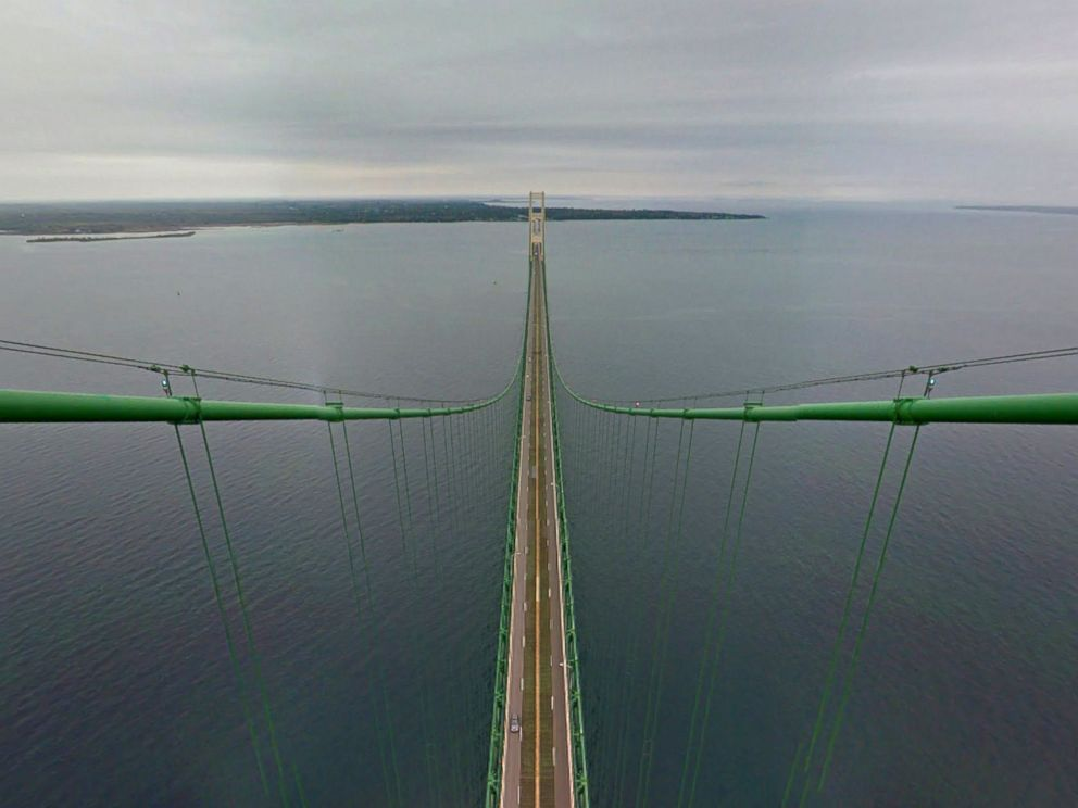 PHOTO: The Mackinac Bridge is seen on Google Maps via Google Trekker.