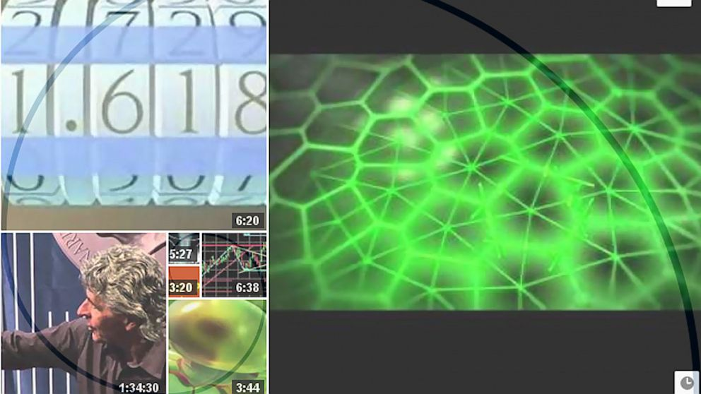 "PHOTO: Searching for ""Fibonacci"" in Youtube presents videos in a golden spiral."