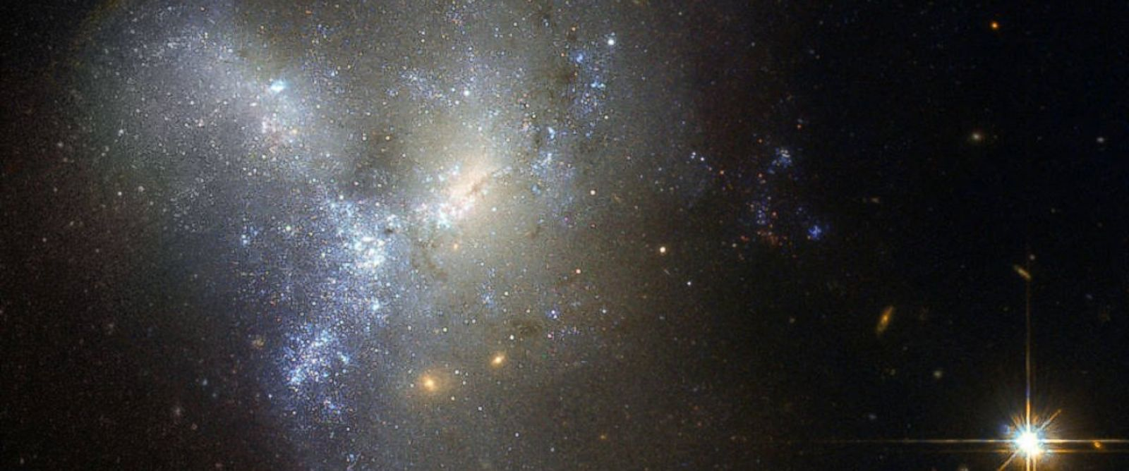 PHOTO:Hubble captured this view of merging galaxies.