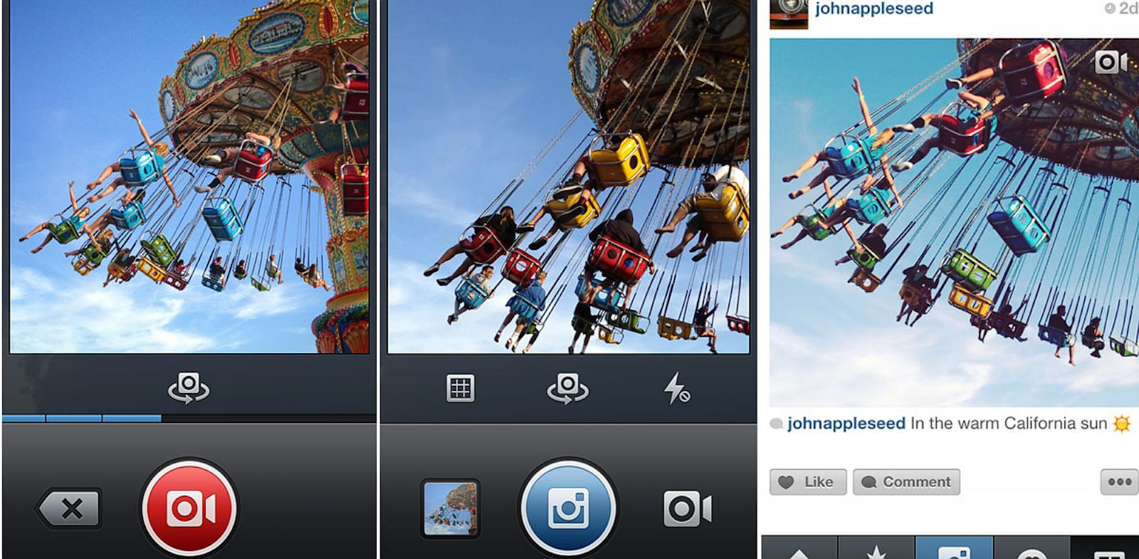 PHOTO: Instagram introduces and demonstrates new features such as video.