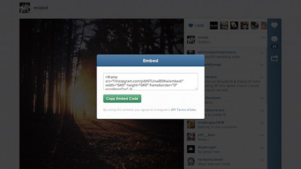 HT instagram embed tk 130710 16x9 608 Instagram Videos Now Embeddable on Websites