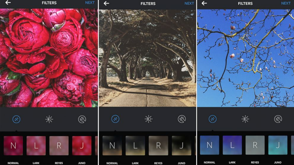 PHOTO: Instagrams new update features three new filters and emoji hashtags.
