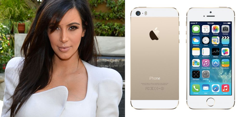 "PHOTO: Employees for Apple reportedly call the iPhone 5S Gold ""The Kardashian phone."""
