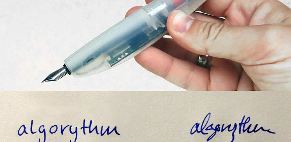 PHOTO: The Lernstift digital pen will vibrate when you make a spelling mistake or write illegibly.