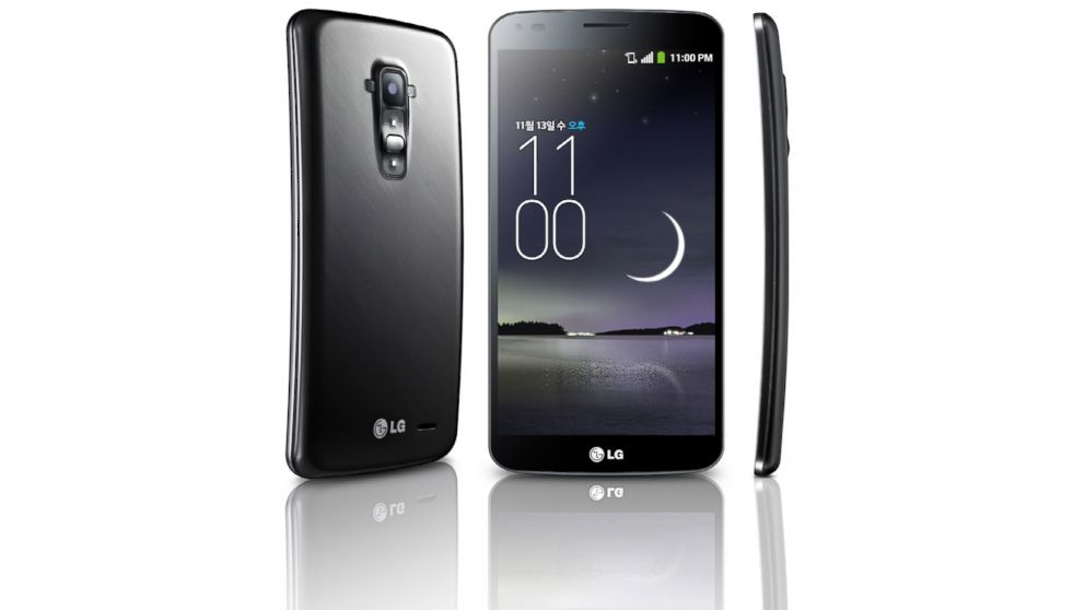 PHOTO: The LG G Flex, a smartphone curved to follow the contour of the face