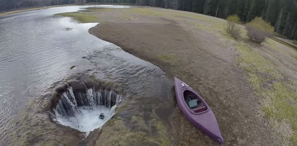 PHOTO: A still image from a YouTube video from the Bend Bulletin shows Lost Lake