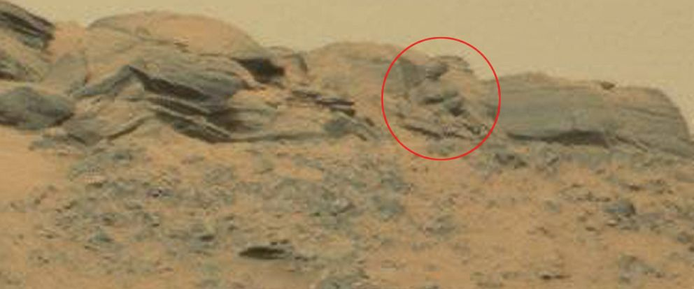 "PHOTO:UFO enthusiasts say the discovery of the ""Stunning Martian God"" is proof intelligent life has existed on the Red Planet."